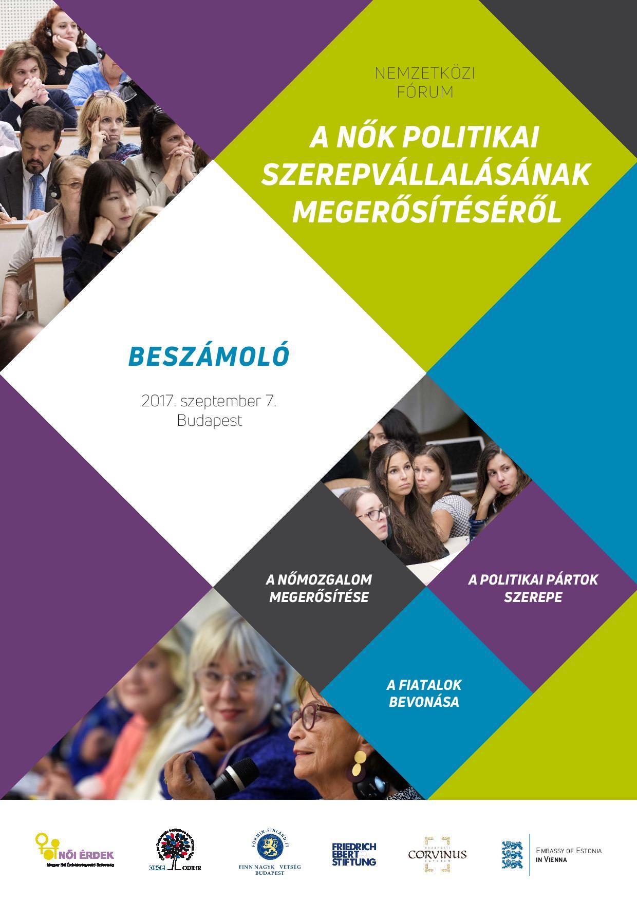 Nemzetközi fórum a nők politikai szerepvállalásának megerősítéséről, 2017